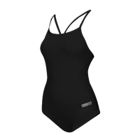 Arena Master Thin Strap Racerback Swimsuit - Women's - Black / Silver