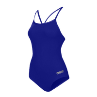 Arena Master Thin Strap Racerback Swimsuit - Women's - Blue / Silver