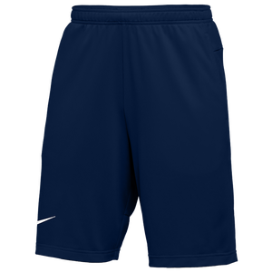Nike Team Authentic Coaches Knit Shorts - Men's - College Navy/White