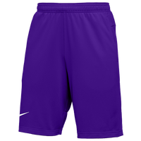 Nike Team Authentic Coaches Knit Shorts - Men's - Purple