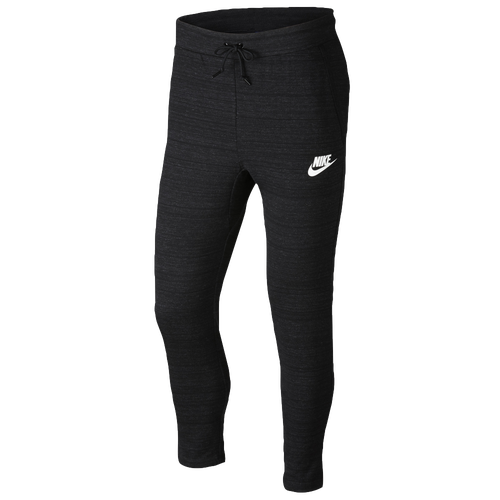 Nike Advance 15 Knit Pants - Men's Casual - Black Heather/White 5923010