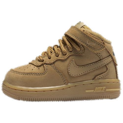 Nike Air Force 1 Mid - Boys  Toddler - Nike - Casual - Med Olive Med Olive Gum  Light Brown Black 199c9a376