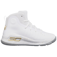 Under Armour Curry 4 - Boys  Preschool - Stephen Curry - White   Gold 14753a568c65