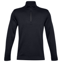 Under Armour Storm Sweater Golf 1/2 Zip - Men's - All Black / Black