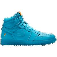 blue jordan shoes