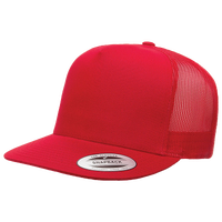 YUPOONG 5-Panel Classic Trucker Cap - Red