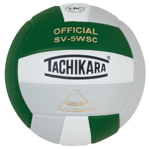Tachikara SV-5WSC Volleyball - Dark Green/White/Silver