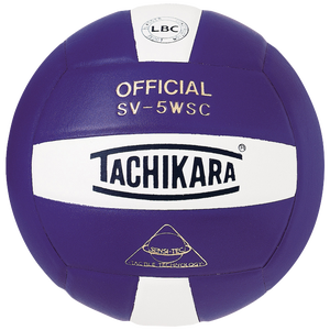 Tachikara SV-5WSC Volleyball - Purple/White