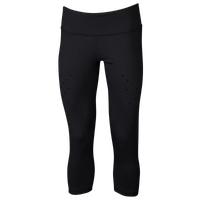 Eastbay Evapor Premium Laser Cut Capris - Women's - All Black / Black