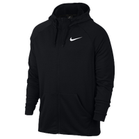 Nike Lightweight Full-Zip Fleece Hoodie - Men's - All Black / Black