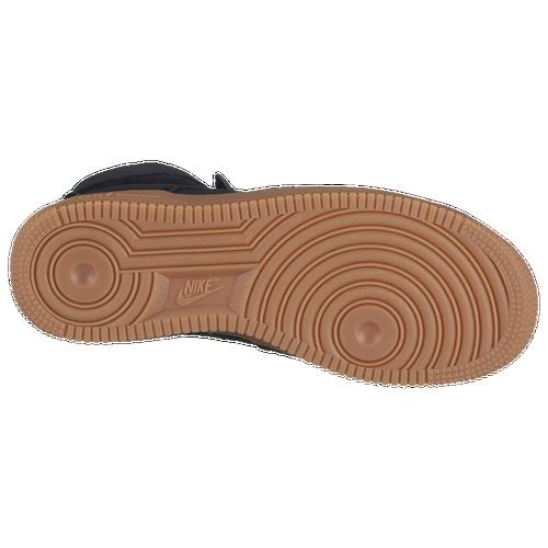 Nike Air Force 1 Haut Des Femmes Tops Noir