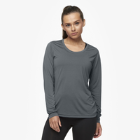 Eastbay EVAPOR Feather Light L/S T-Shirt - Women's - Grey