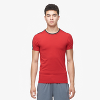 Eastbay EVAPOR Premium S/S Compression T-Shirt - Men's - Red / Black