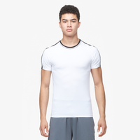 Eastbay EVAPOR Premium S/S Compression T-Shirt - Men's - White / Black