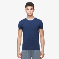 Eastbay EVAPOR Premium S/S Compression T-Shirt - Men's - Navy / Silver