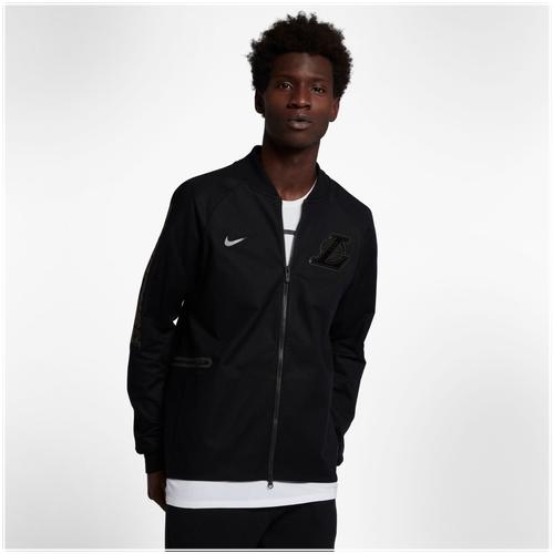 Nike NBA Team Modern Varsity Jacket - Men's - Clothing - Los Angeles Lakers  - Black