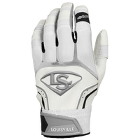 Louisville Slugger Prime Batting Gloves - Men's - White / Grey