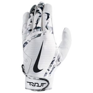 Nike Trout Edge Batting Gloves - Grade School - White/White/Black