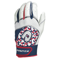 DeMarini Shatter Batting Gloves - Men's - White / Navy