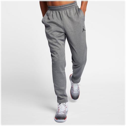 Jordan 23 Alpha Therma Pants - Men's - Grey / Grey