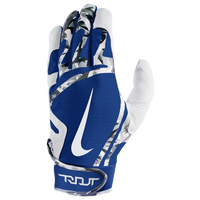 Nike Trout Edge Batting Gloves - Grade School - White / Blue