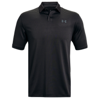 Under Armour Performance Stripe Golf Polo - Men's - Black