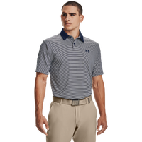 Under Armour Performance Stripe Golf Polo - Men's - Grey