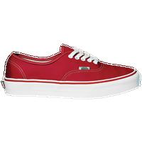 vans authentic red