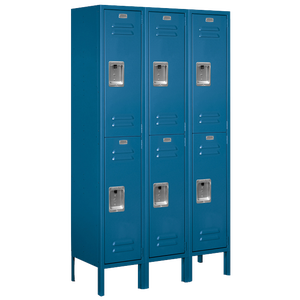 Salsbury Assembled Double Tier Standard Locker - Blue