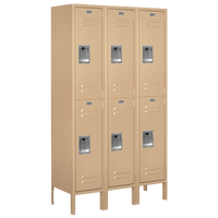 Salsbury Assembled Double Tier Standard Locker - Tan / Tan