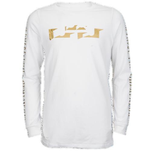 Nike Lebron Bevel Logo Long Sleeve T Shirt Boys 39 Grade
