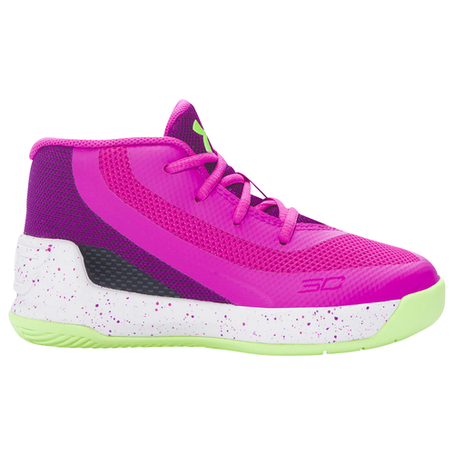 Under Armour Curry 3 - Girls\u0027 Toddler - Basketball - Shoes - Curry, Stephen  - Lunar Pink/Purple Light/Limelight