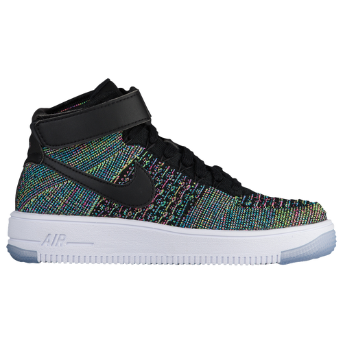 Nike Air Force 1 Ultra Flyknit - Boys' Grade School - Basketball - Shoes -  Pink Blast/Black/White
