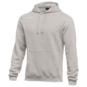 Nike Team Club Fleece Hoodie - Boys' Grade School - Grey Heather/White