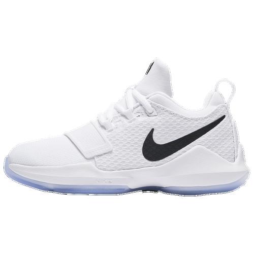 bdf4911a341a ... nike pg 1 boys preschool basketball shoes white silver