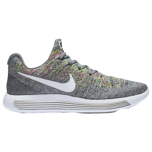 Nike Lunarepic Low Flyknit 2 - Women's Running Shoes - Cool Grey/White/Volt/Blue 63780003