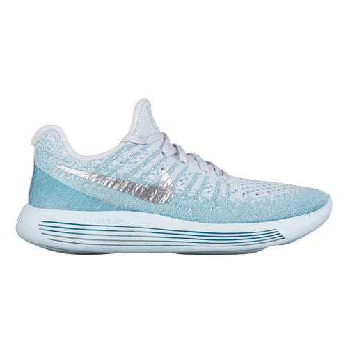 2210cd260e6 Nike Lunarepic Low Flyknit 2 - Women s - Running - Shoes - Glacier  Blue Metallic Silver