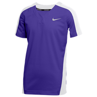 Nike Team Vapor Select 1-Button Jersey - Boys' Grade School - Purple / White