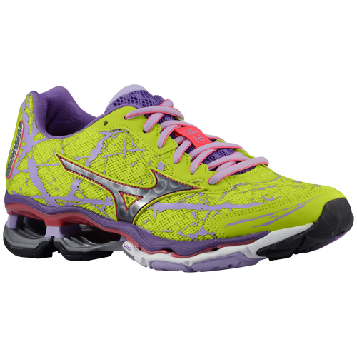 Mizuno Wave Creation 16 - Women's - Running - Shoes - Lime Punch/Black/Deep  Lavender