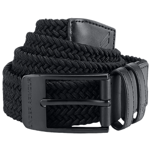 Under Armour Braided 2.0 Golf Belt - Men's - Black/Black