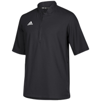 adidas Team Iconic S/S 1/4 Zip Cage Jacket - Men's - Black / White