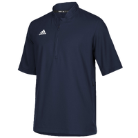 adidas Team Iconic S/S 1/4 Zip Cage Jacket - Men's - Navy / White
