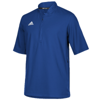 adidas Team Iconic S/S 1/4 Zip Cage Jacket - Men's - Blue / White