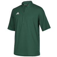 adidas Team Iconic S/S 1/4 Zip Cage Jacket - Men's - Dark Green / White