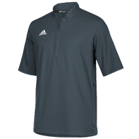 adidas Team Iconic S/S 1/4 Zip Cage Jacket - Men's - Grey / White