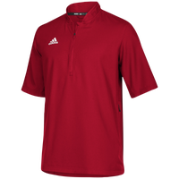 adidas Team Iconic S/S 1/4 Zip Cage Jacket - Men's - Red / White