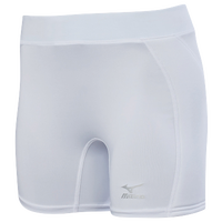 Mizuno Low Rise Sliding Shorts - Women's - All White / White