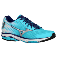 New Mizuno Wave Rider 18 Blue Atoll/Silver/Blue Depths For Women Selling Well