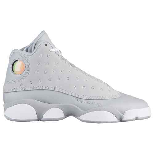 b5390ae70e83 jordan retro 13 girls grade school basketball shoes grey white