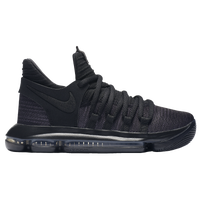 ... Nike KD 10 - Boys' Grade School - Black / Grey